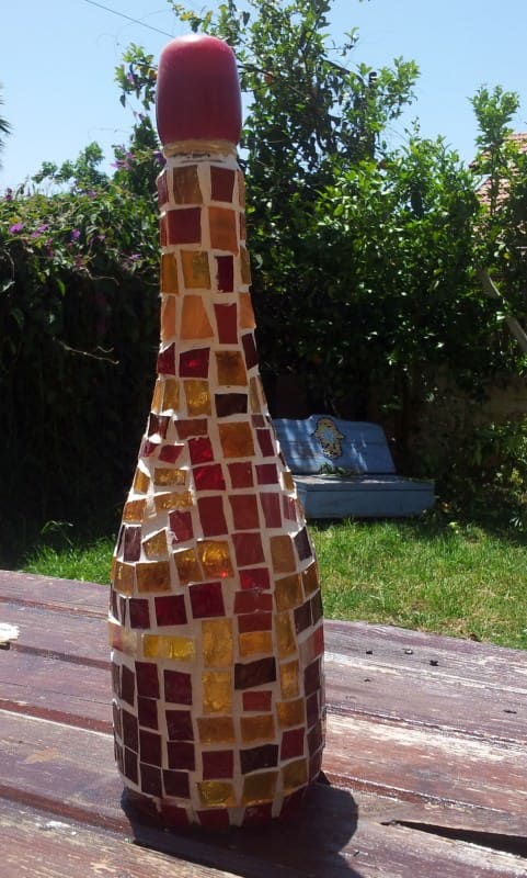 Bottles recycling Art Recycled Glass
