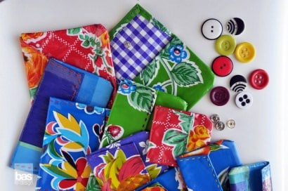 Upcycled Oilcloth wallets