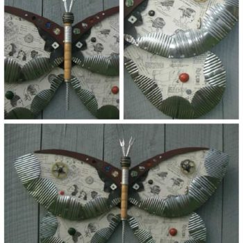 Found Object Moths And Butterflies