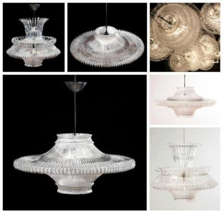 Upcycled Plastic Hanger Lamp