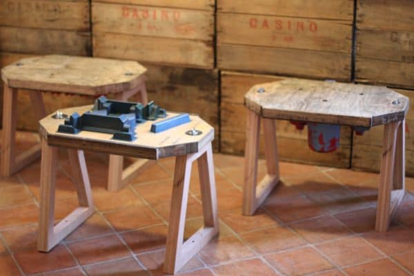 Furniture made from industrial molds in wood furniture  with Industrial Furniture design