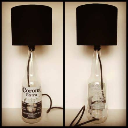 Corona bottle lamp