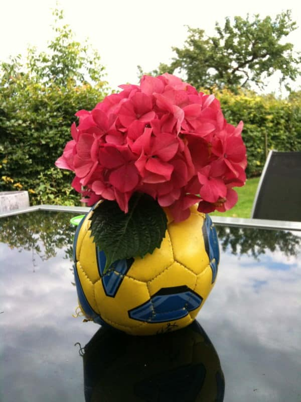 Soccer Ball vase Accessories Do-It-Yourself Ideas