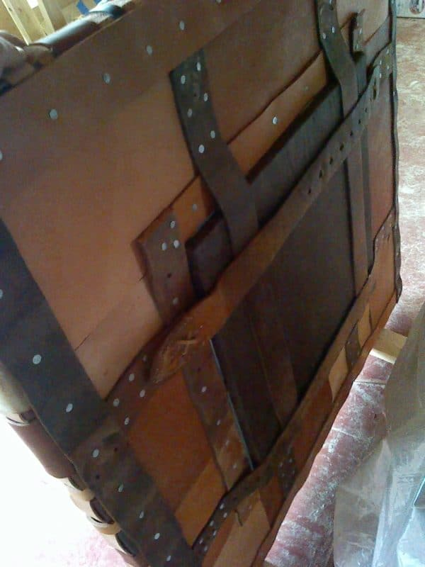 IMG 20130410 173447 600x800 Leather scrap mirror frame in furniture diy with Mirror leather Frame