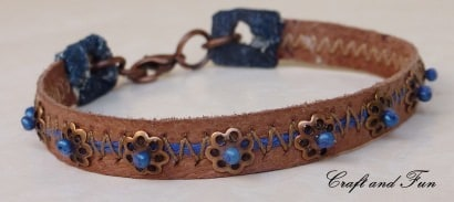 Recycled old boots into leather bracelets