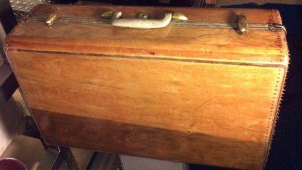 Samsonite Wood Vintage Suitcase
