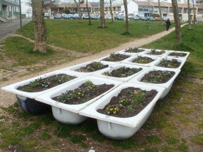 Bathtubs urban garden
