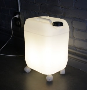 Plastic bottle lamp