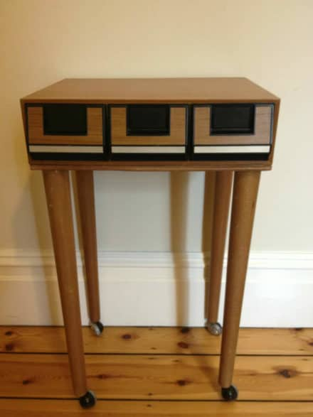 Upcycled Retro Cassette Bedside Table