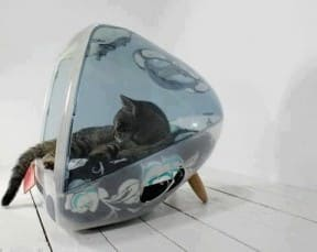 iCat : cat house from an old mac