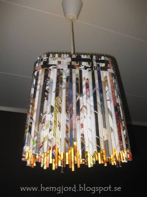Newspaper Pendant Lamp Lamps & Lights Recycling Paper & Books