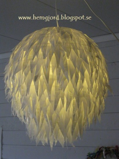 Pendant lamp made of plastic bags #3000th ideas !!