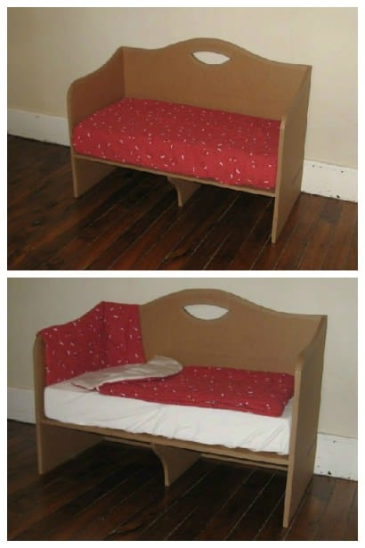 Cardboard Co-Sleeping Bed