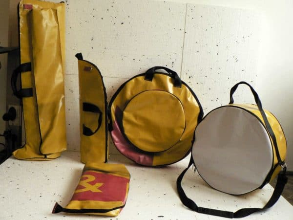 Upcycled Reinforced Soft Bag for music instruments in accessories  with Upcycled Drum Cymbals Bags