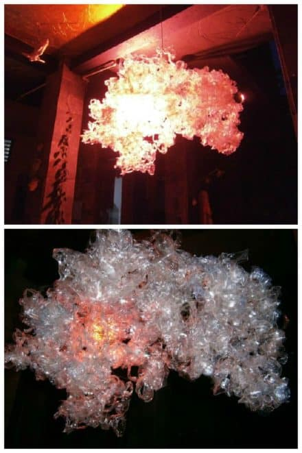 Luxury Trash Chandelier From Recycled Plastic Bottles