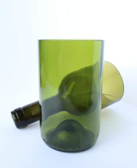 Beer and Wine bottles transformed into Glassware