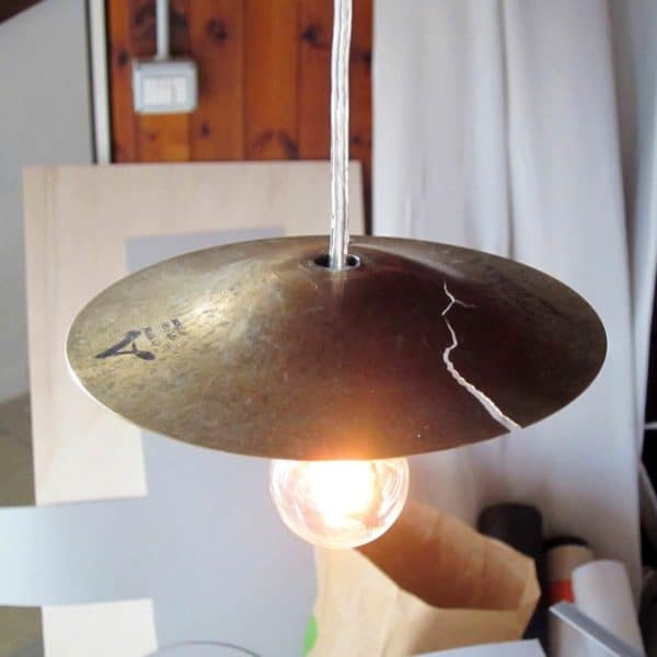 From Music to Light, Recycling Cymbals Lamps & Lights