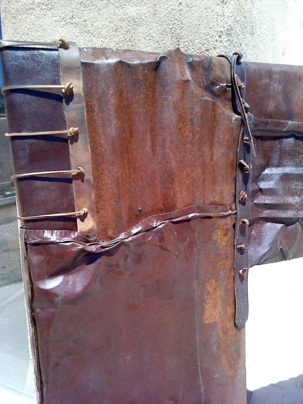 Rusted Leather Mirror Frame Recycled Furniture