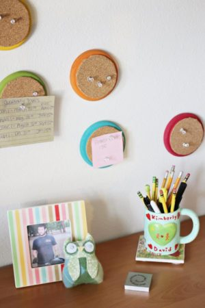 Colorful Recycled Mini Cork Boards