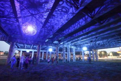 Ballroom Luminoso: Chandeliers Made from Recycled Bike Parts