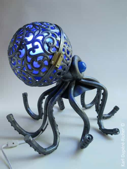 Octopus lamp in lights  with octopus Light Lamp