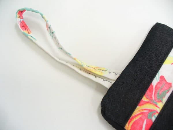 Denim and floral wristlet Clothing Do-It-Yourself Ideas