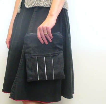 Puffy side pocket clutch