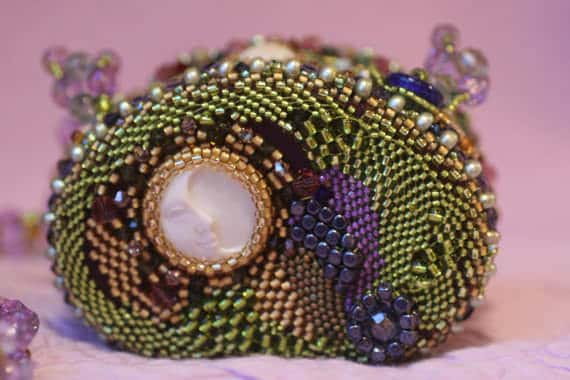 Beaded Gemjar Purse:  Upcycled Jelly Belly Tins Accessories
