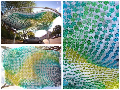 1,500 Plastic Bottles Recycled Into Parking Canopy