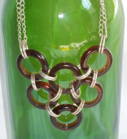 Beer Bottle Ring Neckalce