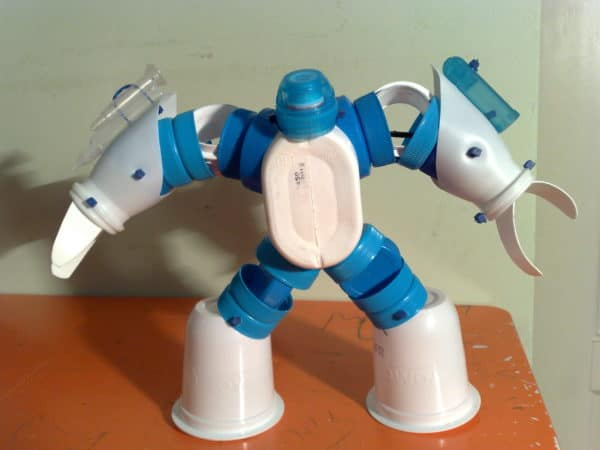 Eco-robots Recycled Art Recycled Plastic