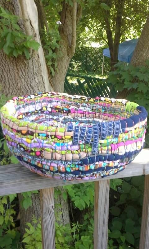 Upcycled Bowlskets in fabric accessories  with Upcycled Fabric DIY Clothes Bowl