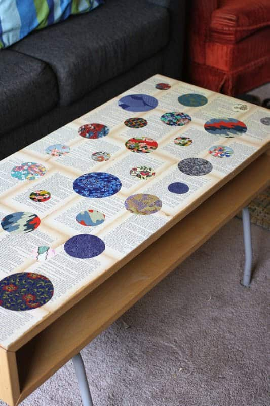 Recycled Novel Page and Washi Paper Coffee Table Do-It-Yourself Ideas Recycled Furniture