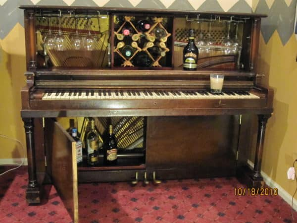 Piano Bar in furniture  with upcycled furniture Piano Bar