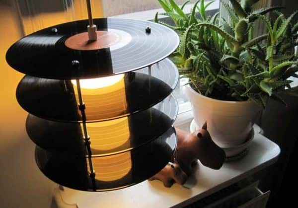 Vinyl Record Lamps Lamps & Lights Recycled Vinyl