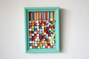 Recycled Golf Tee Art