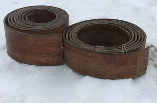 Repurposed Leather Industrial Drive Belt Coasters Do-It-Yourself Ideas