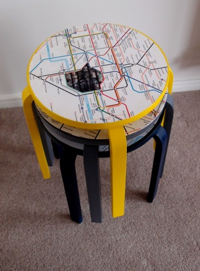Recycled stools