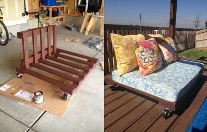 DIY: Outdoor Pallet Patio Set