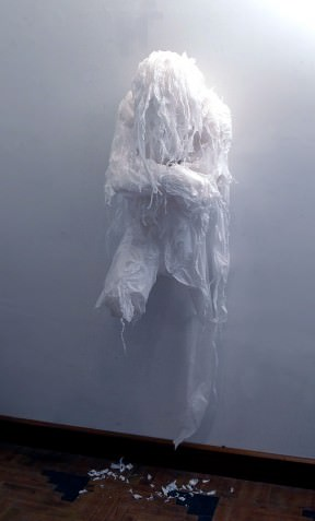 Discarded Plastic Bags Sculptures by Khalil Chishtee
