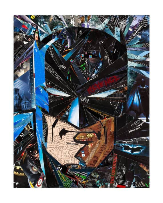 The Dark Knight – Returned, Risen & Recycled – Upcycled Art Recycled Art Recycling Paper & Books