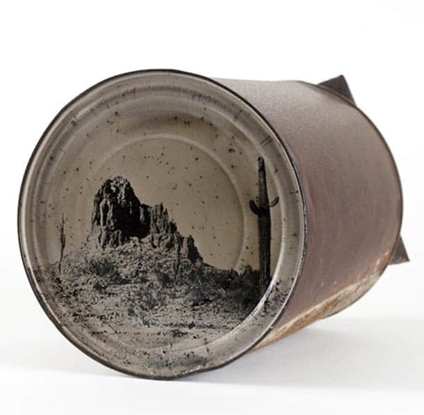 Photography on Old Rusty Cans Recycled Art Recycled Packaging