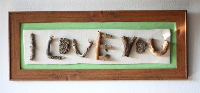 I Love You (twig art)