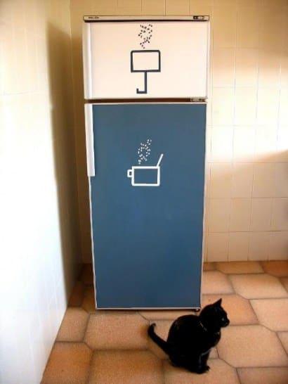Recycled fridge
