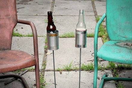 Repurposed can beer holder