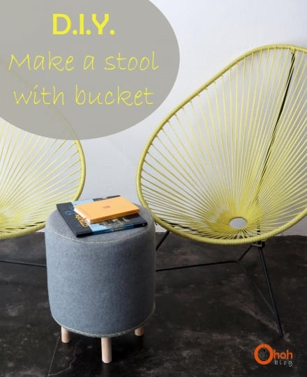 Make a stool with paint bucket