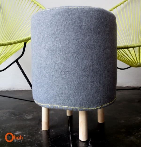 Make a stool with paint bucket Accessories Do-It-Yourself Ideas