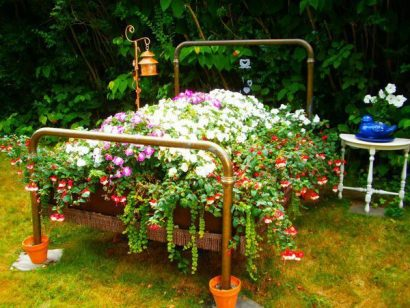 Old bed planter