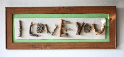 I Love You (twig art)