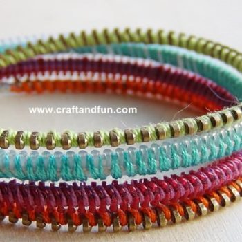 Recycled zippers bracelets